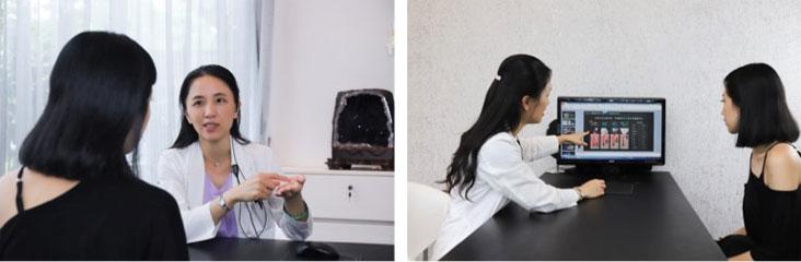診所安排了人氣很旺的劉醫師幫我看診治療